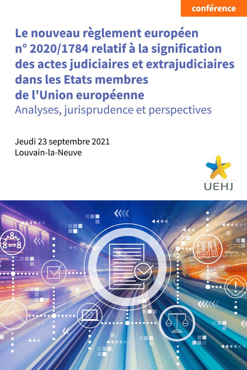 Conférence – Le nouveau règlement européen n° 2020/1784